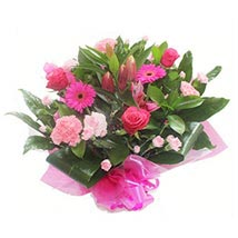 Pink Roses and Carnations: Flower Bouquet Delivery in UK