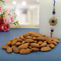 Royal Rajwadi Blue diamond with almond: Send Rakhi to London Boroughs