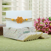 Sparkling Rakhi with Kaju Katli: Send Rakhi to London Boroughs