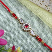 Sparkling Red Diamond bracelet: Send Rakhi to London Boroughs