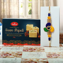 Tri colour Rakhi Soan Papdi Hamper: Send Rakhi to London Boroughs