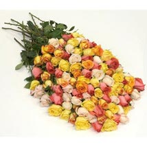 100 Long Stem Assorted Roses: Flowers to Kansas City