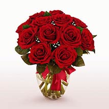 12 Long Stem Red Roses: Valentines Day Gifts to Manchester