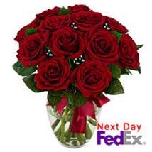 12 stem Red Rose Bouquet