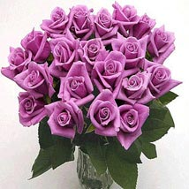 25 Long Stem Lavender Roses: Birthday Gifts Raleigh