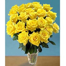 25 Long Stem Yellow Roses: Send Flowers to Kansas City