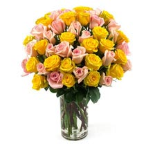 50 Long Stem Assorted Roses: Send Flowers to Kansas City