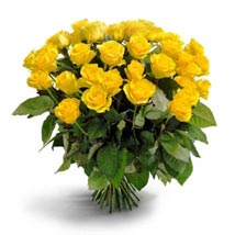 50 Long Stem Yellow Roses: Send Flowers to Kansas City