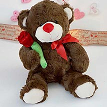 Accept my Rose Teddy Bear: Valentines Day Gifts Manchester