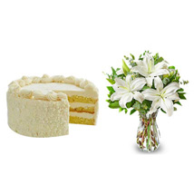 All White: Send Flowers & Cakes to Fremont