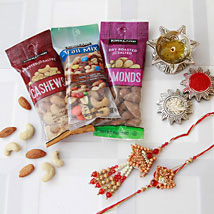 Bhaiya Bhaiya Rakhi with Dry Fruits: Rakhi to Pittsburgh