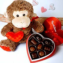 Chocolate Heart N Soft Toy: Valentines Day Gifts Manchester