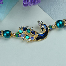 Elegant Peacock Rakhi: Send Rakhi to Pittsburgh