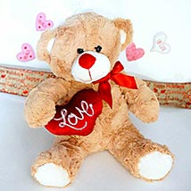 Love Message Brown Teddy: Valentines Day Gifts Manchester