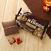 Lovely Rakhi with Hershey Kisses: Send Rakhi to Pittsburgh