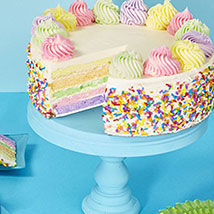 Rainbow Cake: Send Fathers Day Gifts to USA