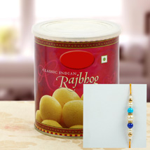 Rajbhog with Multy Color Pearl Rakhi: Send Rakhi to Pittsburgh