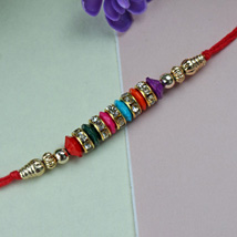 Simple Beaded Rakhi: Send Rakhi to Pittsburgh