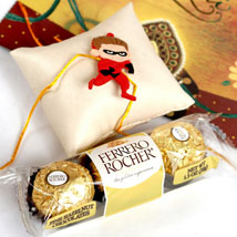 Superhero Rakhi With Rocher: Rakhi to Pittsburgh