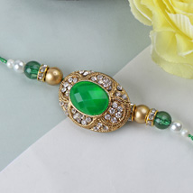 Green Emerald Stone Rakhi YUG: